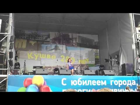 Ольга Овчинникова на юбилее города Кушва (2)