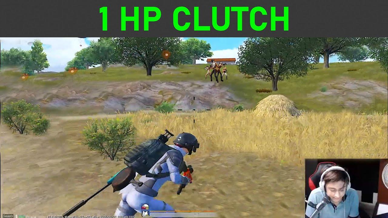 1HP Clutch PUBG mobile