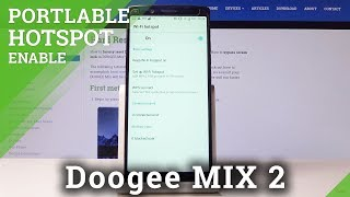 How to Activate Portable Hotspot in DOOGEE Mix 2 - Network Access Point