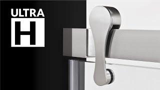 Modern Bypass Sliding Shower Doors ULTRA-H by LessCare