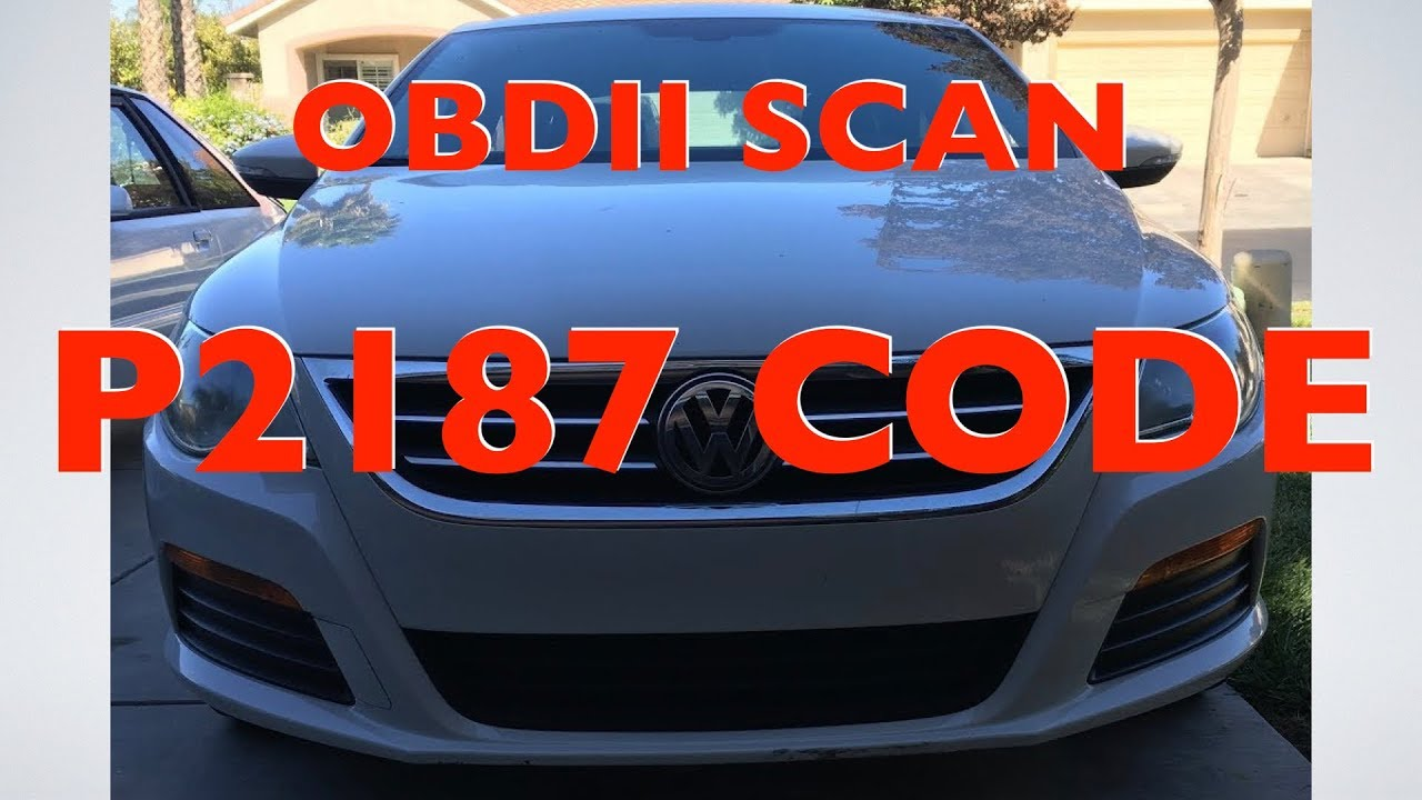 OBDII scan on VW P2187 code | FunnyCat TV