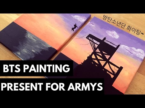 BTS 방탄소년단 'Butterfly' on stage : prologue // ACRYLIC PAINTING Birthday Present For ARMY!