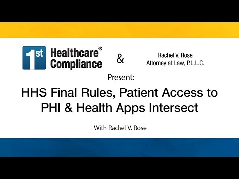 HHS Final Rules Patient Access To PHI & Health Apps Intersect