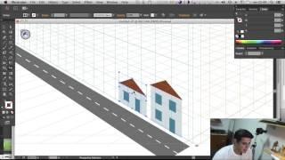 Perspectiva no Illustrator - Perspective Grid Tool - Curso de Illustrator CC #23