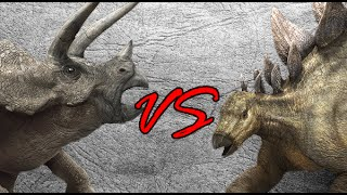 Clash of the herbivores! The two of most famous herbivores dinosaur...