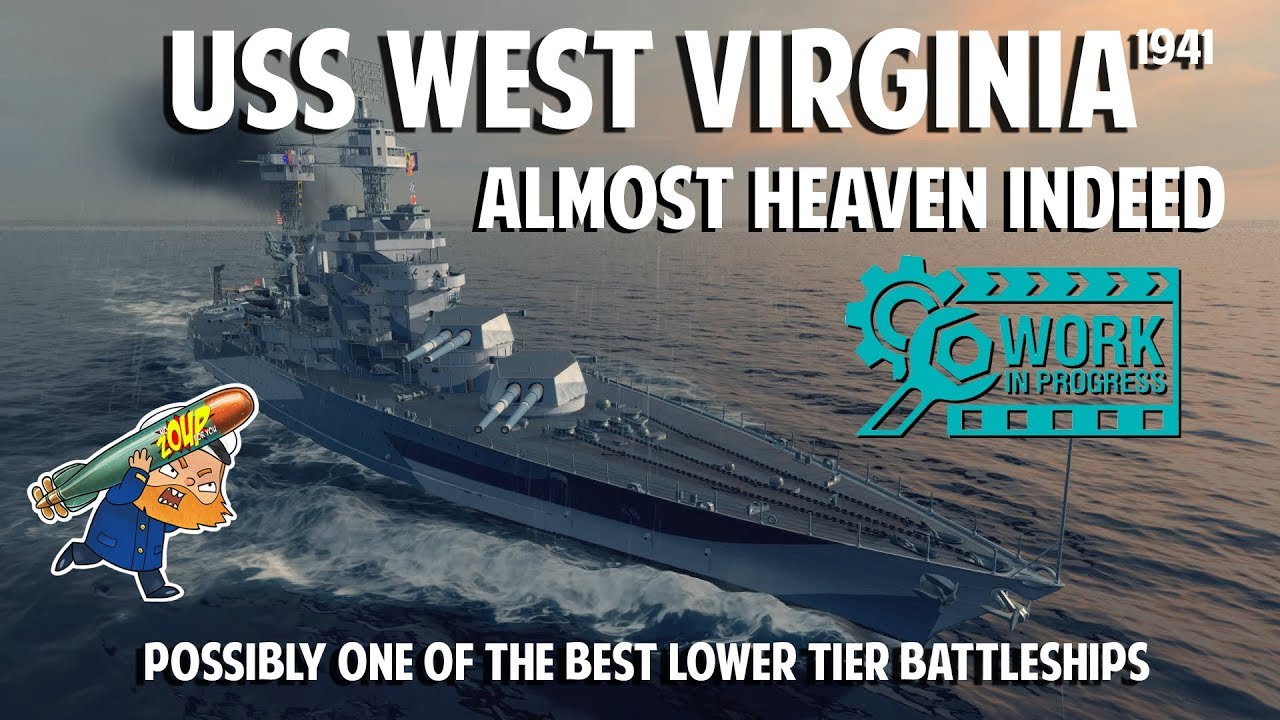 World of Warships USS West Virginia Preview - Best Tier 6 Battleship?