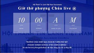 HTTLVN Sacramento | Ngày 22/08/2021 | Chương trình thờ phượng | MSQN Hứa Trung Tín