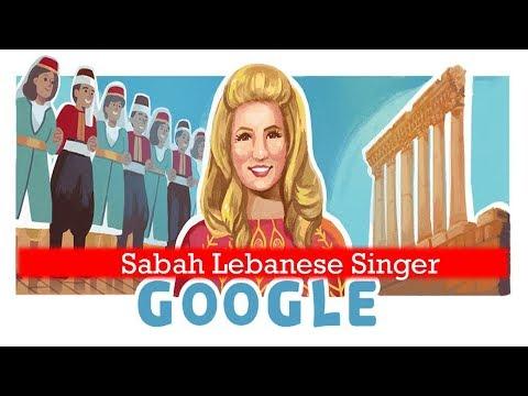 Sabah singer , Sabah's singer 90th Birthday Google Doodle