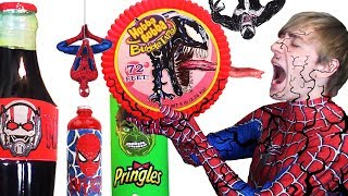 Download Do NOT Eat VENOM Hubba Bubba 😫 DIY Superhero Food & Drinks Spiderman, Hulk, Antman - Giant Food Mp3 and Videos