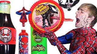 Do NOT Eat VENOM Hubba Bubba  DIY Superhero Food &amp Drinks Spiderman, Hulk, Antman - Giant Food