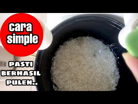 Cara Memasak Nasi Hingga Pulen Dengan Takaran Air Yang Pas.