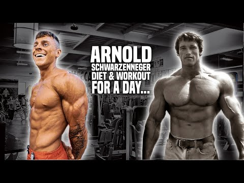 Bodybuilder tries Arnold Schwarzenegger's DIET & WORKOUT for a day... thumbnail