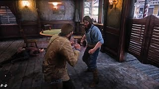 Red Dead Redemption 2 - Epic Bar Fight & Tommy Boss Fight in Rain (RDR2)
