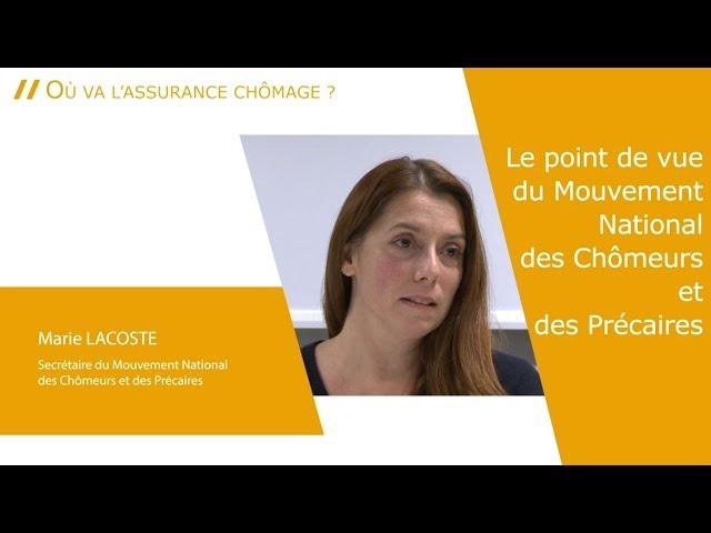 Marie Lacoste (MNCP) au Laboratoire des idées sur la réforme de l'assurance chômage