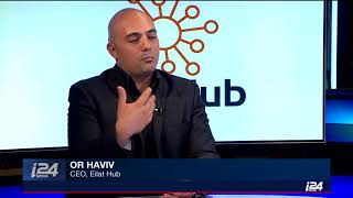 Or Haviv, Eilat Hub CEO, at I24 News