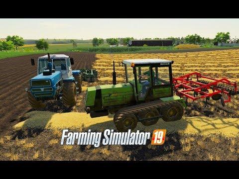 Farming Simulator 2019.  The village of Berry. Grain harvesting; cultivation.