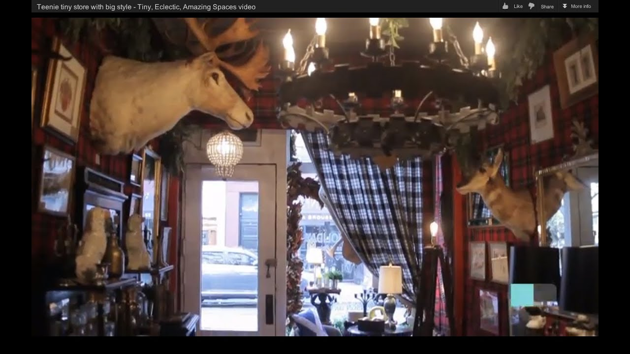 Teenie tiny X-mas store with big style - Tiny, Eclectic, Amazing Spaces video