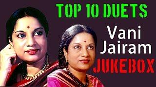 Top 10 Duets of Vani Jairam | Tamil Movie Audio Jukebox