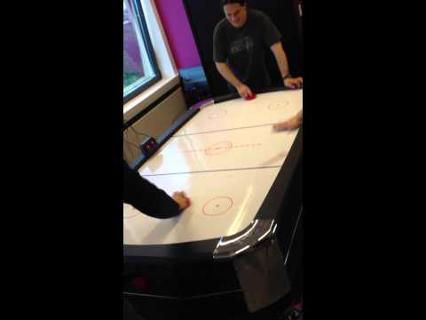 New air hockey table @ Mondial Telecom
