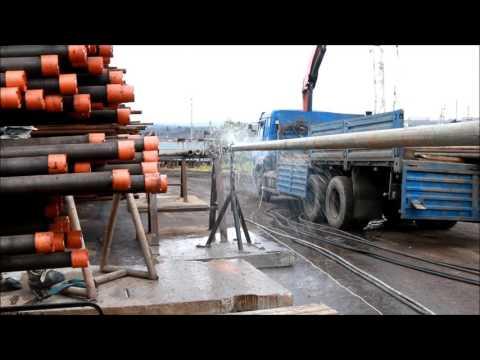Очистка труб НКТ от бетона