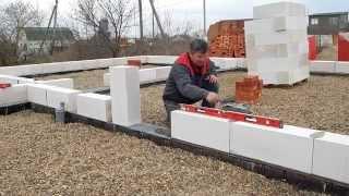 Строительство домов из Газоблока . 8989 2927971(Первый основной ряд газоблока., 2015-04-08T00:35:26.000Z)