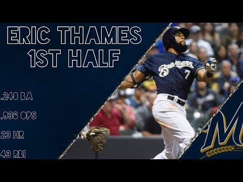 Eric Thames 2017 1st Half Highlights