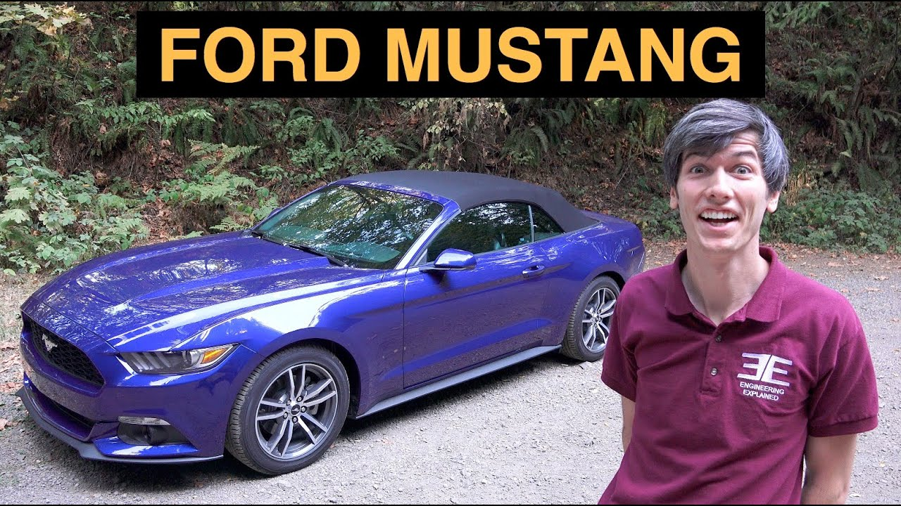 2015 ford mustang ecoboost 4 cylinder muscle car youtube. Black Bedroom Furniture Sets. Home Design Ideas
