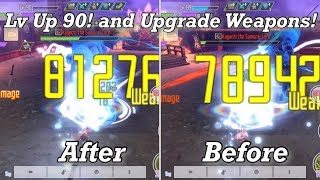 Lv up 90! and Upgrade Weapons  Sword Art Online: Integral Factor Game play