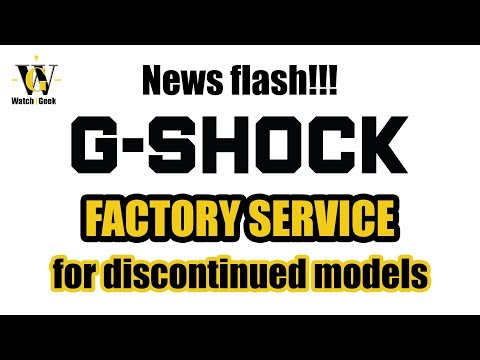 News flash - Casio offering factory service for historical discontinued models!!