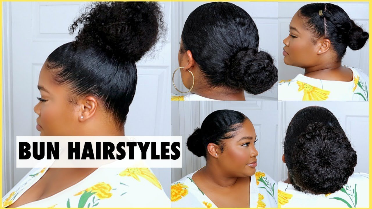 4 easy bun hairstyles natural