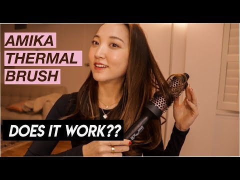 Amika Blowout Babe Thermal Brush -- Is It Worth It? | Full Tutorial | Glowwithava