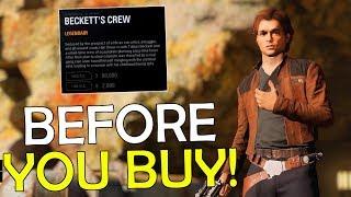 Legendary Beckett's Crew Han Solo | Before You Buy - Star Wars Battlefront 2