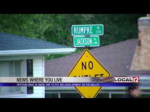Union Township residents protest big development project