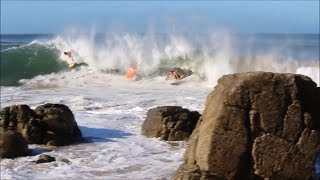 Noosa Surfing Wipeouts and Fails | Cyclone Winston | 27/2/2016 | HD