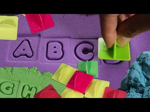 Learning ABC Letter Alphabets and Numbers 1-10 with Playsand | Video for children