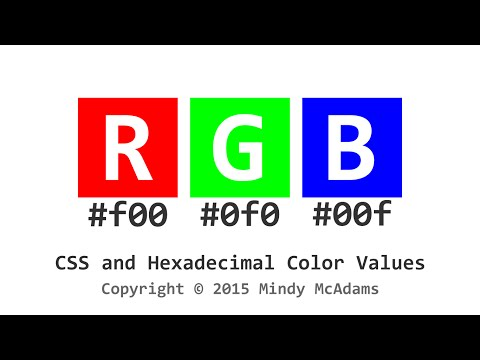 CSS and Hexadecimal Color Values
