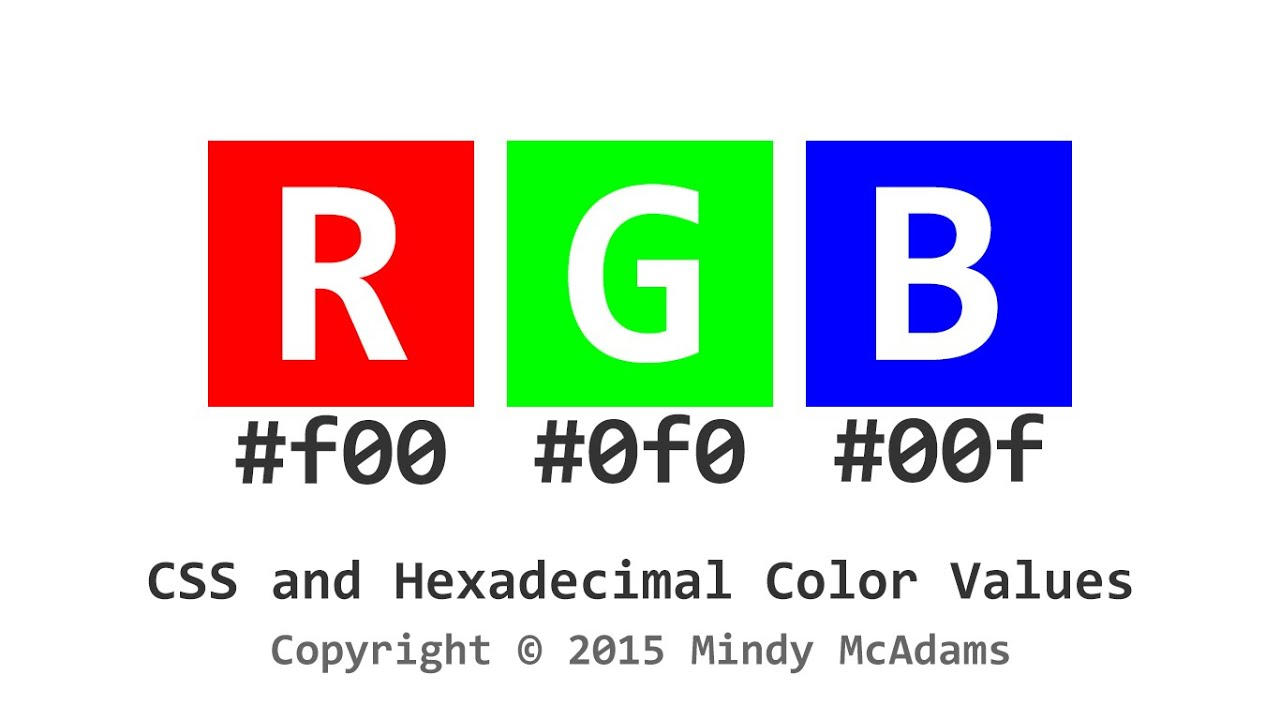 CSS and Hexadecimal Color Values - YouTube
