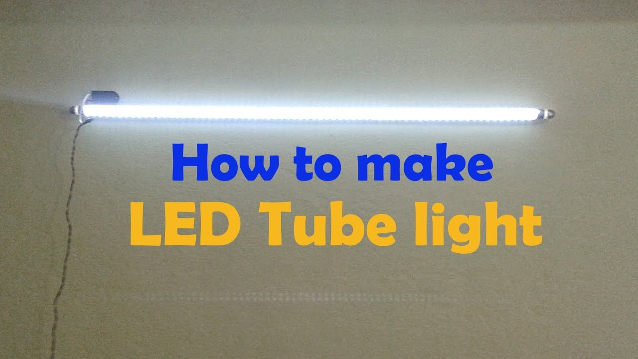 Led Tube Wiring Diagram How To Make Led Tube Light Convert Old Tube Tight In To