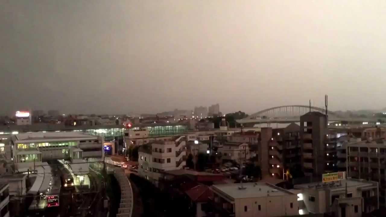 Powerful Lightning Bolt Strikes Train 2014 YouTube