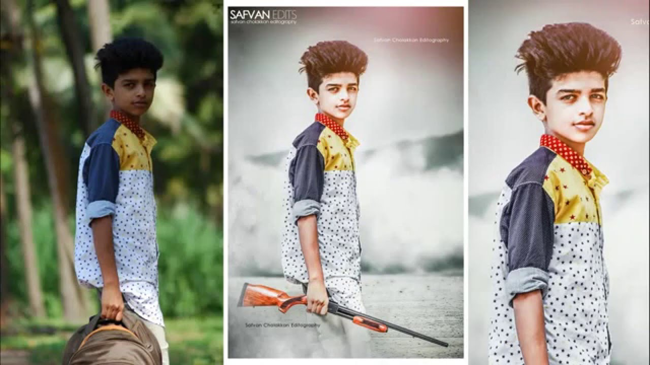 Photoshop Photo editing | Gun man - YouTube