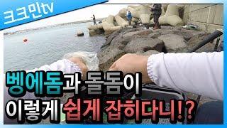 방파제 찌낚시 영상(벵에돔, 돌돔, 숭어)