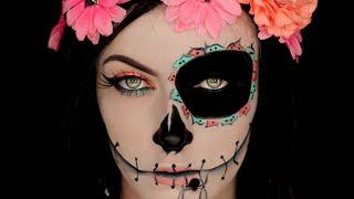 Sugar Skull Catrina Inspired Halloween Makeup Tutorial