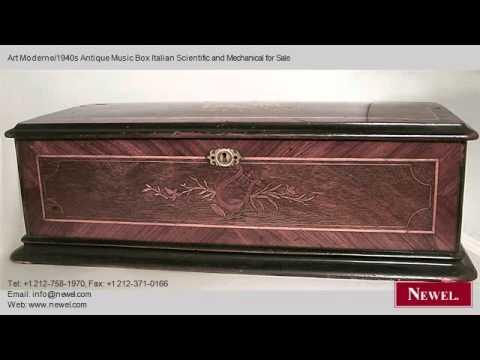 Art Moderne1940s Antique Music Box Italian Scientific