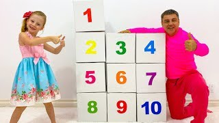 Настя учит считать до 10