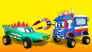 ПОЛИЦЕЙСКИЙ преследует воришку КРОКОДИЛА Автомобильный город Детские мультфильмы