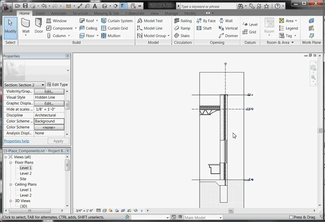 Easy Revit 2011 25 1 Sections And Details Part 1