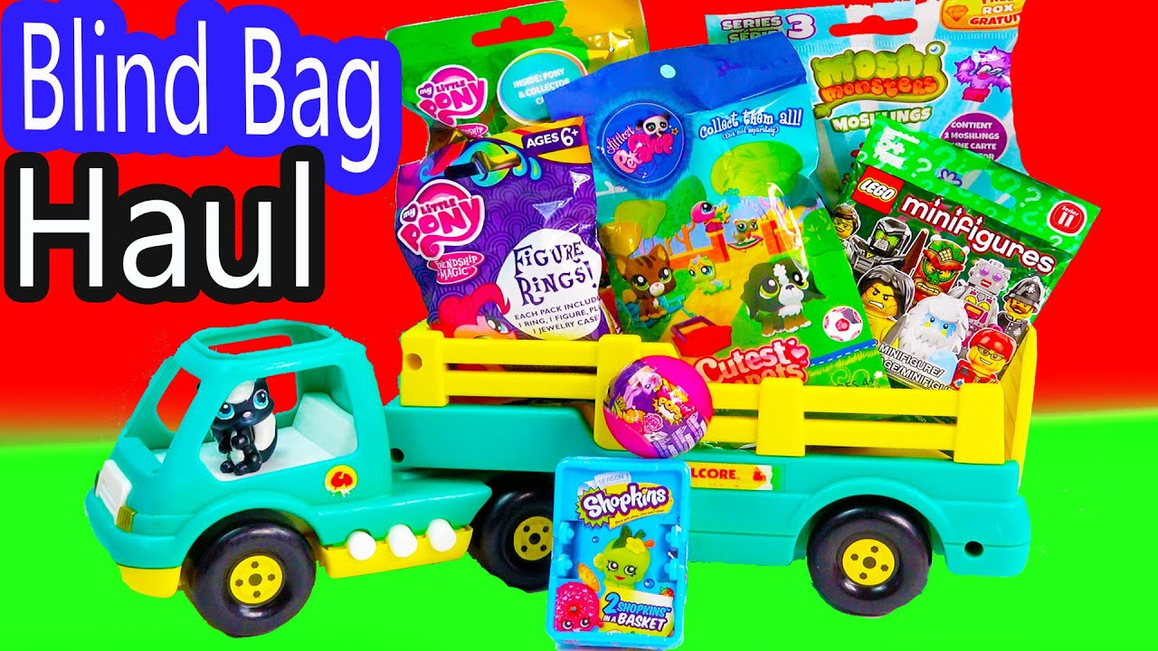 Shopkins Mlp Squishy Pops Ball Blind Bag Haul Lps Mystery