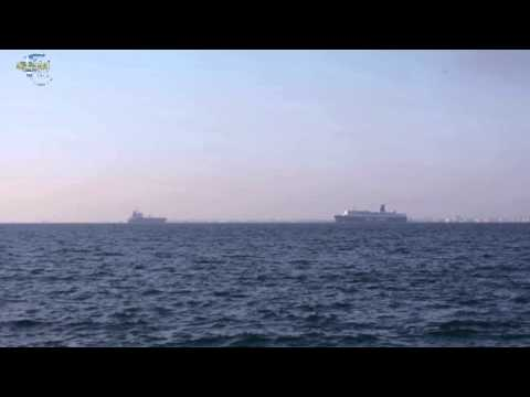 A minute of Greece: Ships in Thermaikos.Thessaloniki ᴴᴰ