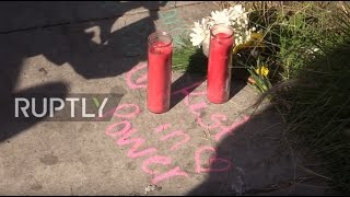 USA  Mourners lay flowers in Oakland as club fire death toll rises to 33