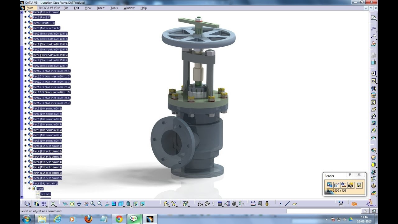 Catia V5 Tutorial|Junction Stop Valve P4|Stop Valves-Simple ...